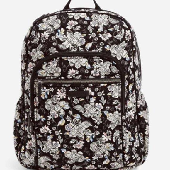 Vera Bradley Campus Backpack Holland Garden Black